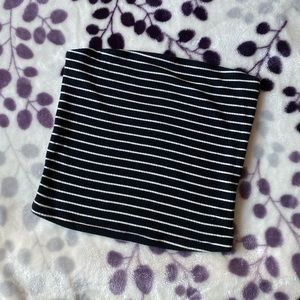 American Eagle XS Striped Ribbed Tube Top
